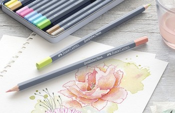 Belleza suave: lápices acuarelables en tonos pastel de Faber-Castell