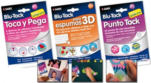 plico presenta la nueva gama de masilla adhesiva blu tack