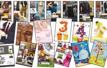 Etiquetas escolares y postales de Arguval