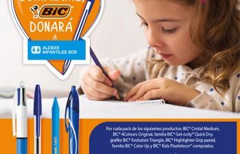 BIC arranca una campaña a favor de Aldeas Infantiles SOS de España en apoyo a 10.000 niños y niñas que necesitan ayuda urgente para cubrir sus necesidades básicas