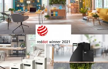 Los nuevos productos de Leitz para trabajar desde casa y satisfacer la creciente demanda de soluciones sostenibles han sido premiados con los prestigiosos Red Dot Design Awards