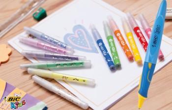 La gama Bic® Kids ofrece tres productos para ayudar a los niños  a aprender a escribir