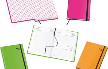 Dohe apuesta por tonos fluor en la gama de agendas más coloristas