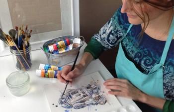 Crear arte en casa con las pinturas acrílicas de Molin